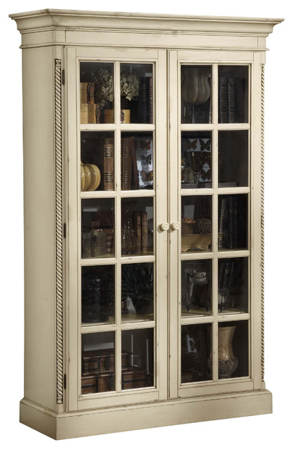 Hillsdale Wilshire Large Library Cabinet, Antique Pine - Transitional - China Cabinets And ...