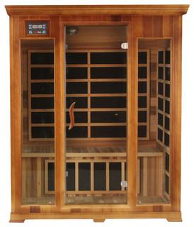Kericko 3 Person Cedar Indoor Infrared Sauna Spa Carbon Heater FAR