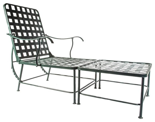 Bowery Hill Double Patio Chaise Lounge, Antique Bronze