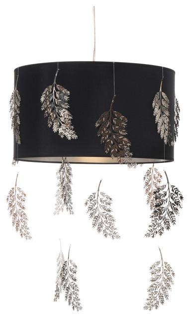Kahala Fern Black Pendant Lamp, Large
