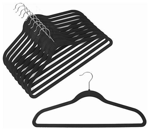 Slim-Line Black Shirt or Pant Hanger, Set of 20
