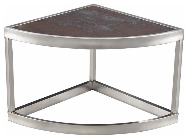 Shop houzz sterling industries sorrento 14 inch triangle for Corner side table