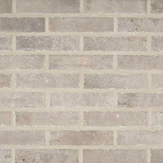 """Capella Taupe Brick 2""""x10""""."""