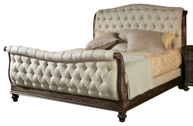 American Drew Jessica McClintock Boutique Sleigh Bed In Baroque   Queen  Traditional Sleigh Beds