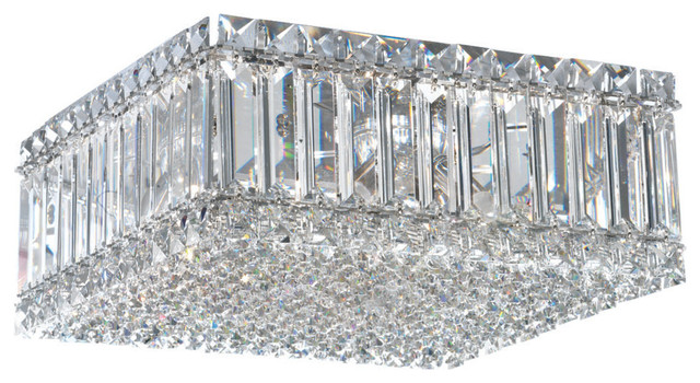 Quantum 4-Light Close To Ceiling In Stainless Steel With Clear Spectra Crystal.