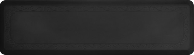 Smart Step Home Collection Anti Fatigue Comfort Mat Fleur-De-Lys Series, Black.