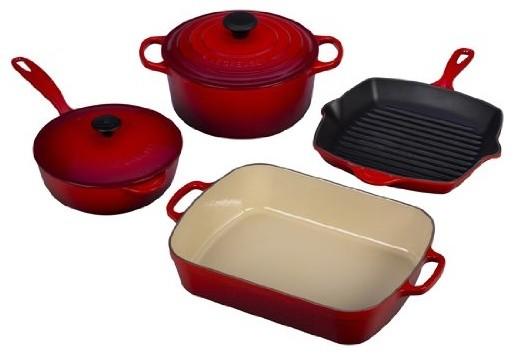 Le Creuset Signature 6-Piece Cast Iron Cookware Set.