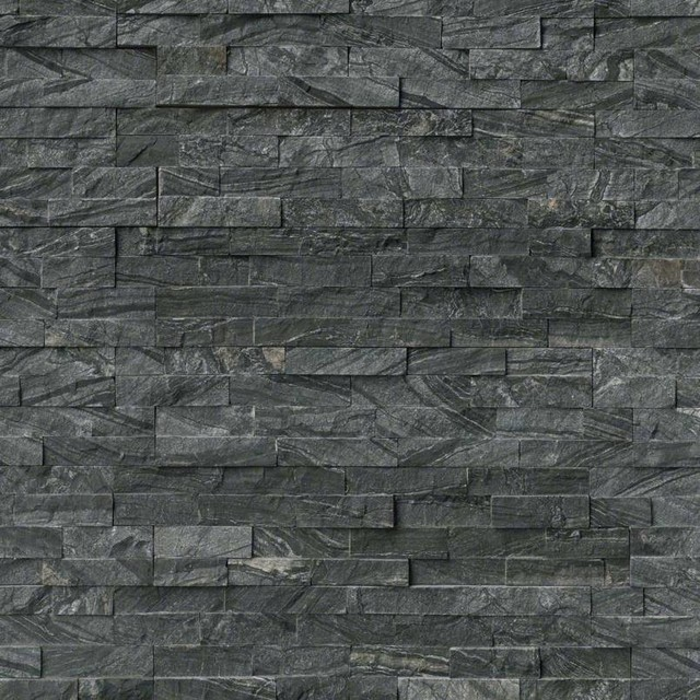 12 Quot X12 Quot Florence Glacial Black Stacked Stone Panels
