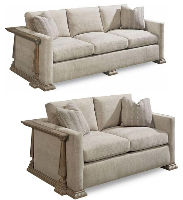 Traditional Sofas Living Room Furniture: Arch Salvage 2-Piece Harrison Sofa Set