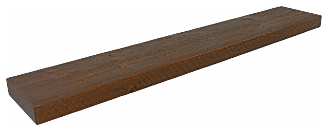 Floating Picture Ledge Shelf Rustic Solid Pine up to 48 inches long