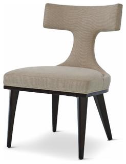 Truman Modern Classic Oatmeal Linen Upholstered Anvil Dining Chair