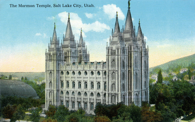 Quot Salt Lake City Utah Exterior View Of The Mormon Temple