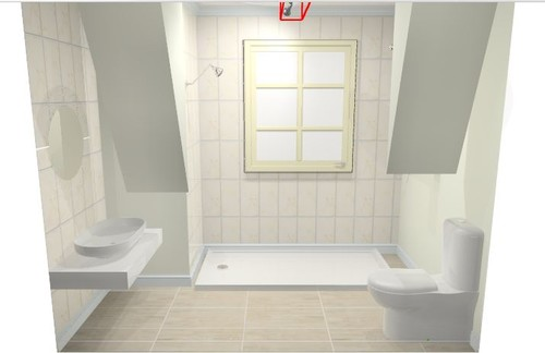 Bathroom upstairs design help for 2700 x 1800 set in for Bathroom design help