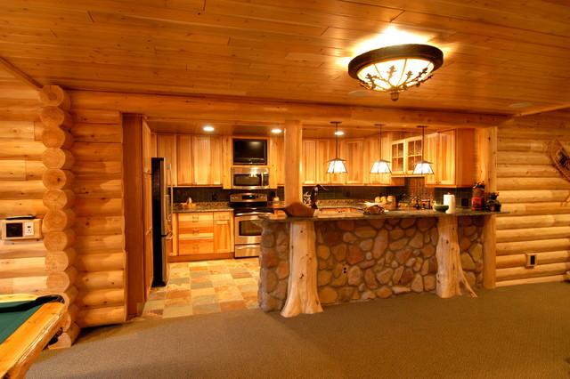 Interior Designers U0026 Decorators. Log Home Theater Rustic Basement Part 36