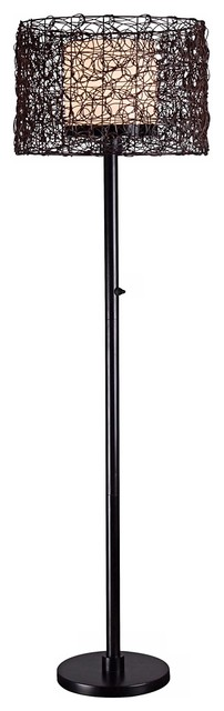 Uttermost Sitka One Light Heavily Distressed Rustic Mahogany Floor Lamp