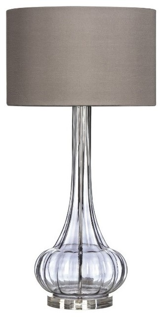 Tall Glass Table Lamp Contemporary Table Lamps By All The Hues
