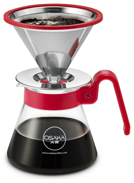 Osaka Pour Over Coffee Dripper 20 oz. Capacity, Color Series - Contemporary - Coffee Makers - by ...
