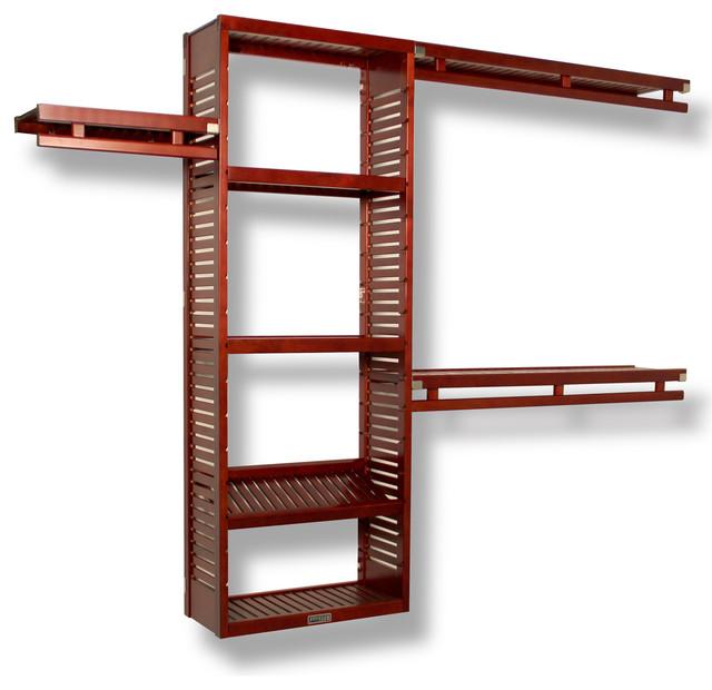 "Simplicity Closet Organizer, Red Mahogany, 12""."