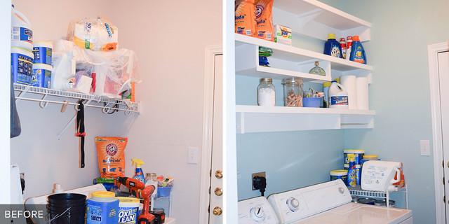 Reader Laundry Room Building Her Own Shelves For 115 In Texas