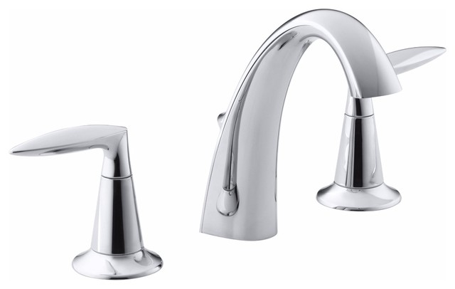 KOHLER K 45102 4 CP Alteo Widespread Bathroom Sink Faucet Modern Bathroom