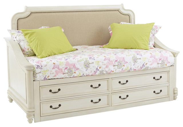 Samuel Lawrence Madison Day Bed With Underbed Storage Unit, Antique White.