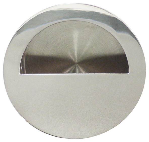 Inox Round Flush Pull Contemporary Cabinet And Drawer