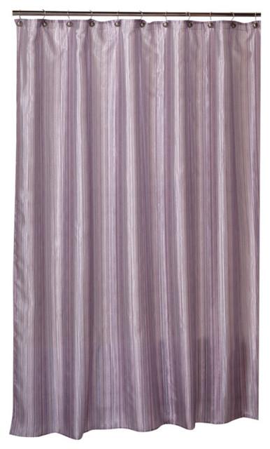 Superbe Saturday Knight Shimmer Stripes Shower Curtain