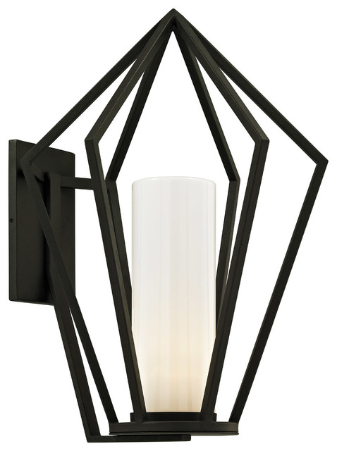 Whitley Heights 1-Light Wall Sconces, Textured Black.