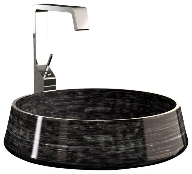 Bon Alumix Exte High End Vessel Sink, Black Silver