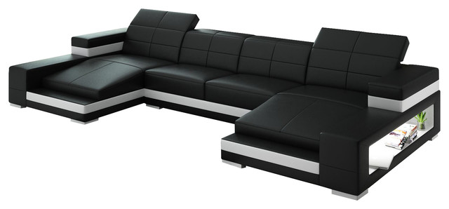 Aubrey Double Chaise Sectional - Contemporary - Sectional Sofas ...