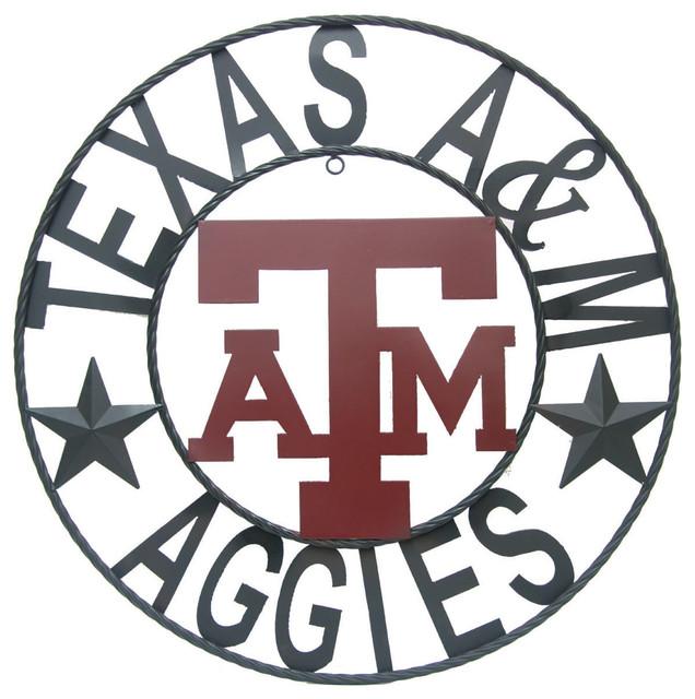 Texas Star Wall Decor texas a&m aggies star wrought iron wall decor - contemporary