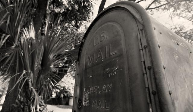Old US Mailbox St Petersburg Florida Fine Art Black & White Fine Art Photography