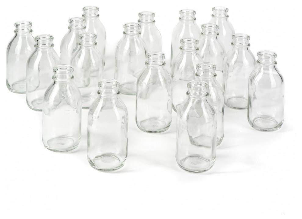 Glass Milk Bottle Bud Vases Set Of 48 Contemporary Vases By Serene Spaces Living Houzz
