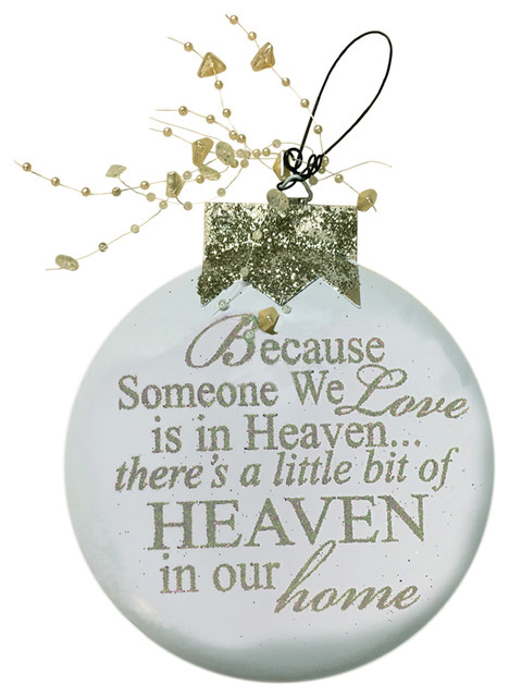Because Someone We Love Is In Heaven Angel Cream Silver Ornament