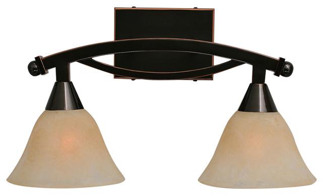 Bow 2 Light Bath Bar - Contemporary - Bathroom Vanity Lighting - by Toltec Lighting