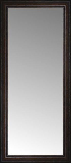 18 X40 Custom Framed Mirror Distressed Brown