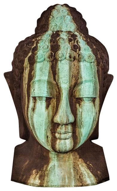 Extra Large Buddha Head Garden Sculpture