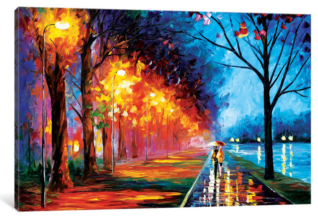 """""""Alley"""" by The Lake II Gallery"""" by Leonid Afremov, 40x26x0.75"""""""