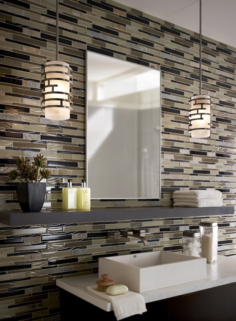 Contemporary Bathroom Pendant Lighting pendants in a bathroom - contemporary - bathroom - chicago -
