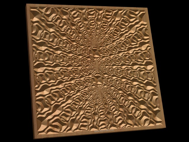 TMGW41 Wavy pattern Vector file for V- bit carving with software Vectric Aspire,