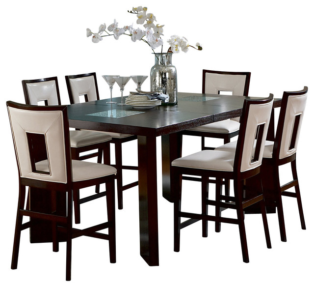 steve silver delano 7piece counter height set with leaf sets