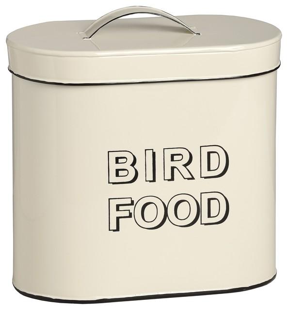 Bird feed tin contemporary bird feeders by baytree for Bird feed tin
