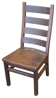 WCF Barn Wood Ladder-Back Side Chair