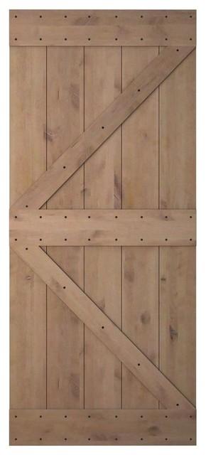 Natural primed knotty alder sliding wood solid core barn - Knotty alder interior doors sale ...