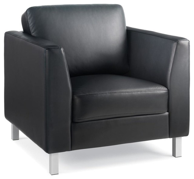 Turnstone Lincoln Lounge Chair, black leather by Steelcase Store