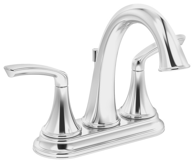 Symmons SLC-5512-1.5 Elm Centerset Bathroom Faucet - Includes Metal Drain Assem