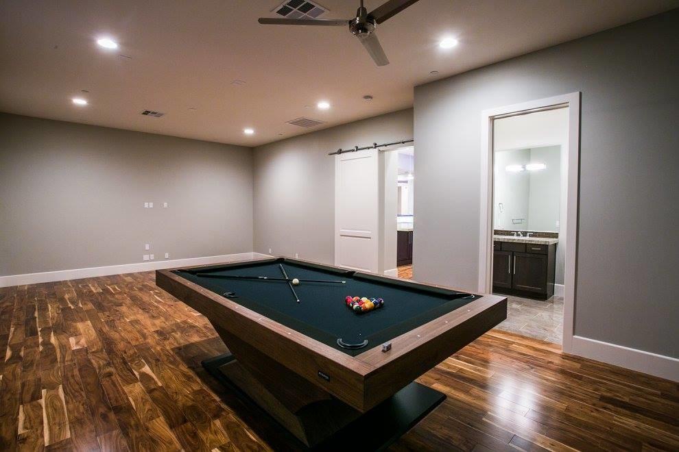 Game room - farmhouse game room idea in Las Vegas