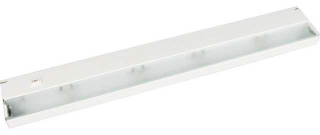 Progress Lighting 4-Light Undercabinet With Frosted Glass Lens, White