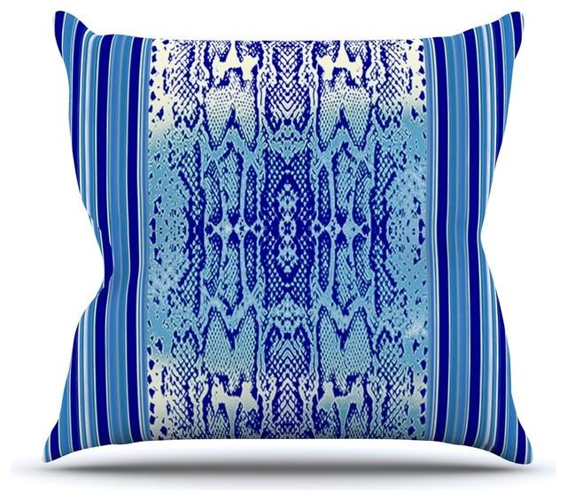 Blue And Aqua Throw Pillows : Kess InHouse - Nina May