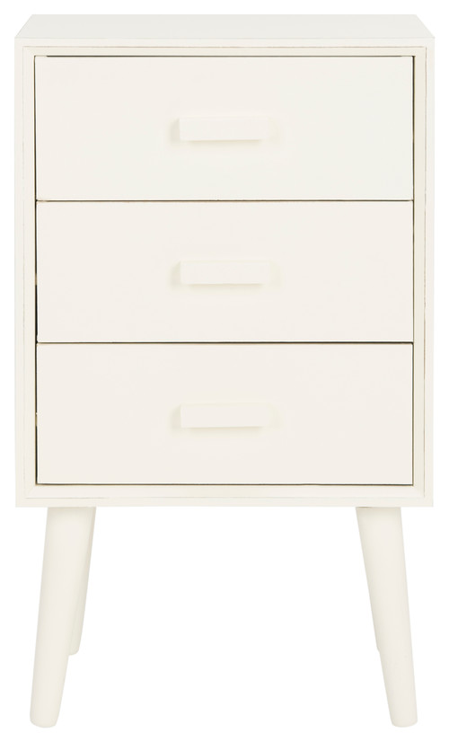 Safavieh Pomona 3-Drawer Chest, Distressed White